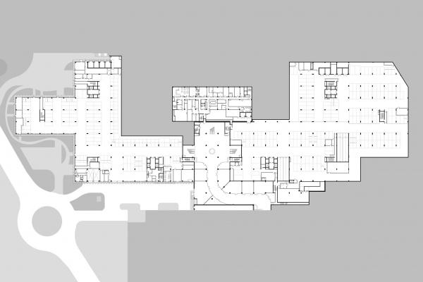 """План -1 этажа. Офисный комплекс """"COMCITY"""" © АМ Сергей Киселев и Партнеры"""