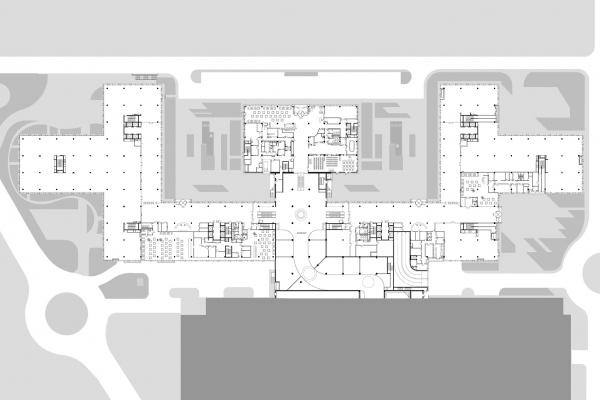 """План 1 этажа. Офисный комплекс """"COMCITY"""" © АМ Сергей Киселев и Партнеры"""