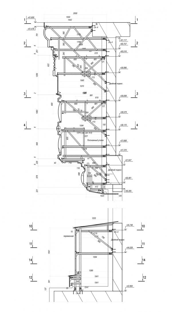 Главный храм ВС РФ. Конструкция главного барабана © предоставлено «ОРТОСТ-ФАСАД»