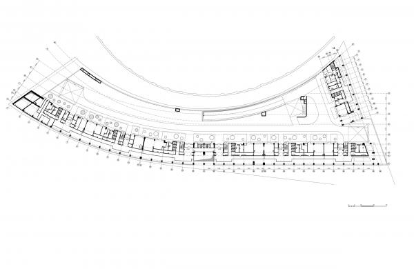 План стилобата. Жилой комплекс «Лица» © ТПО «Резерв»