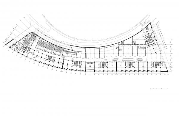 План этажа на отметке +4.800. Жилой комплекс «Лица» © ТПО «Резерв»