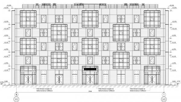 Кампус университета ИТМО. Общежития. Первый блок. Фасад 16-1 © Студия 44
