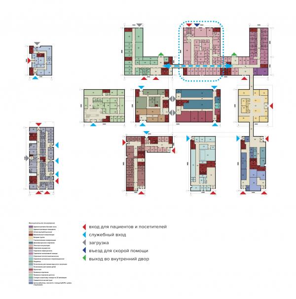 Конструктор здоровья. План первого этажа © UNK project