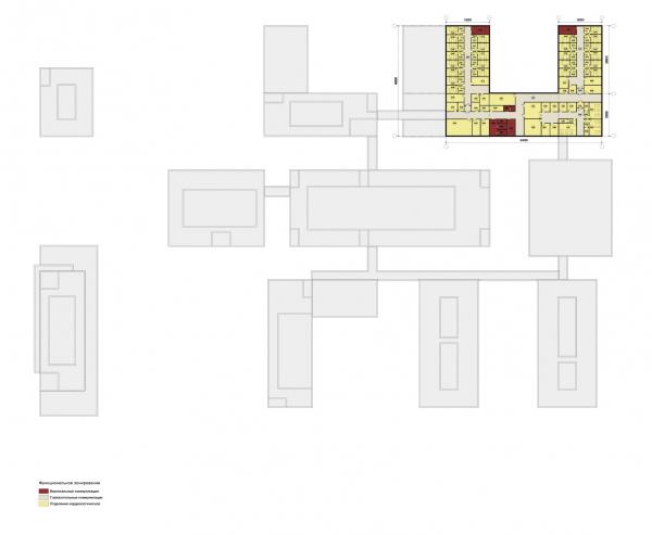 Конструктор здоровья. План шестого этажа © UNK project