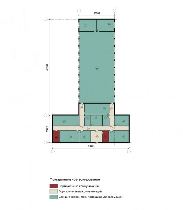 Конструктор здоровья. План второго этажа скорой медицинской помощи © UNK project