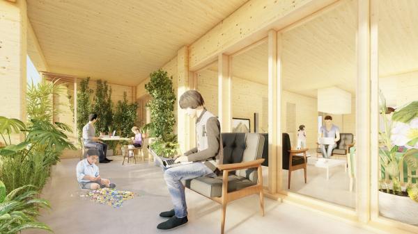 Жилой массив для Нового города Сюнъань © Guallart Architects
