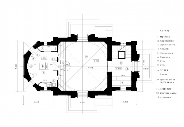 The plan. Church of the Beheading of John the Baptist at the Novodevichy Convent Copyright: © Utkin Studio