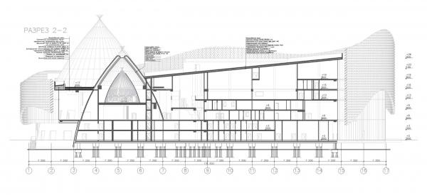 Концепция интерьеров Государственной филармонии Якутии. Арктический центр эпоса и искусств. г. Якутск © United Riga architects (URA)