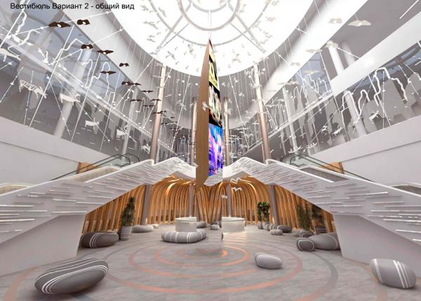 Концепция интерьеров Государственной филармонии Якутии. Арктический центр эпоса и искусств. г. Якутск © Дизайн–студия «Уран»