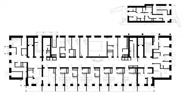 План 1 этажа. Детский хоспис «Дом с маяком» © IND Architects