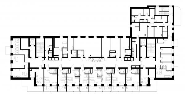 План 2 этажа. Детский хоспис «Дом с маяком» © IND Architects