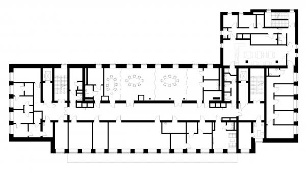 План 3 этажа. Детский хоспис «Дом с маяком» © IND Architects