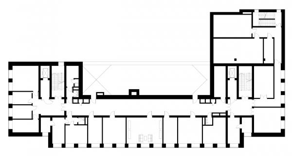 План 4 этажа. Детский хоспис «Дом с маяком» © IND Architects