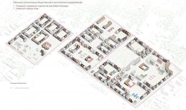 Схема архитектурно-художественного решения. Разработка архитектурно-градостроительной концепции развития городского округа «Город Южно-Сахалинск» © UNK project