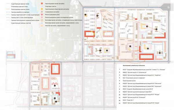 Схема волнового переселения (3 волна). Разработка архитектурно-градостроительной концепции развития городского округа «Город Южно-Сахалинск» © UNK project