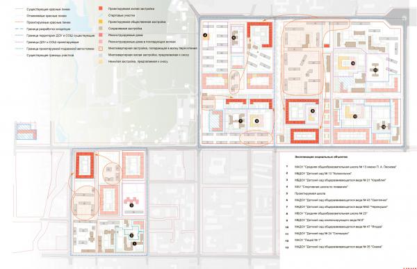 Схема волнового переселения (4 волна). Разработка архитектурно-градостроительной концепции развития городского округа «Город Южно-Сахалинск» © UNK project