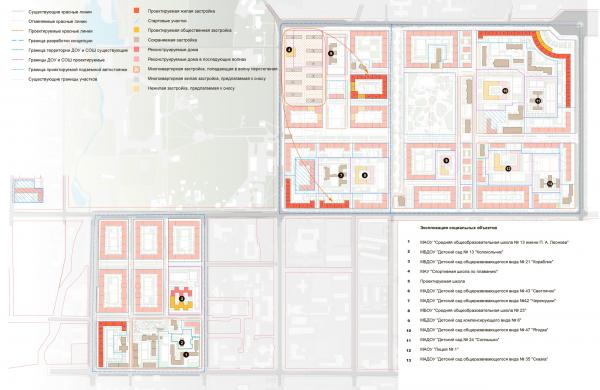 Схема волнового переселения (6 волна). Разработка архитектурно-градостроительной концепции развития городского округа «Город Южно-Сахалинск» © UNK project