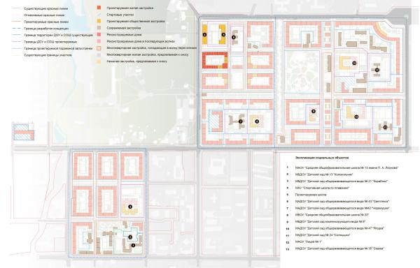 Схема волнового переселения (завершение строительства). Разработка архитектурно-градостроительной концепции развития городского округа «Город Южно-Сахалинск» © UNK project