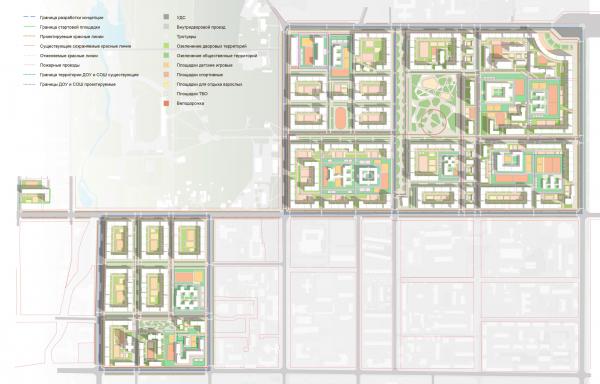 Схема озеленения. Разработка архитектурно-градостроительной концепции развития городского округа «Город Южно-Сахалинск» © UNK project