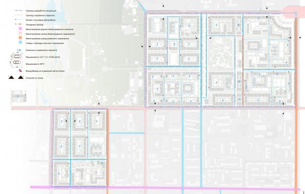 Транспортная схема с организацией улично-дорожной сети. Разработка архитектурно-градостроительной концепции развития городского округа «Город Южно-Сахалинск» © UNK project