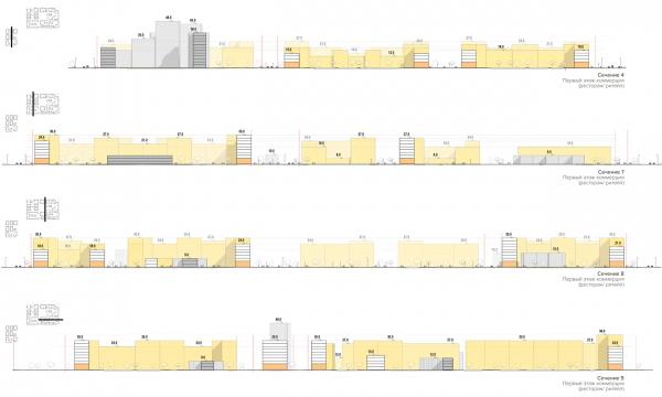 Сечения по территории. Разработка архитектурно-градостроительной концепции развития городского округа «Город Южно-Сахалинск» © UNK project