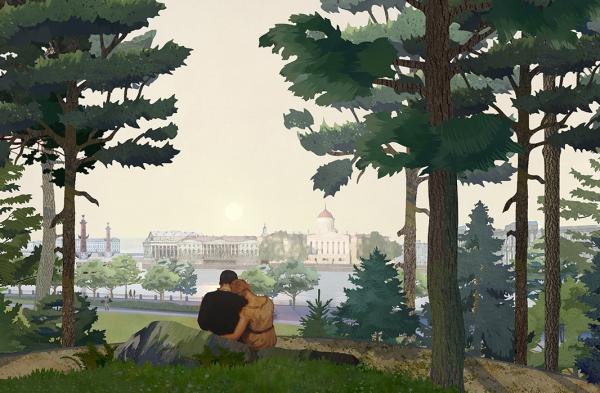 Романтический парк «Тучков буян» © Студия 44, West 8
