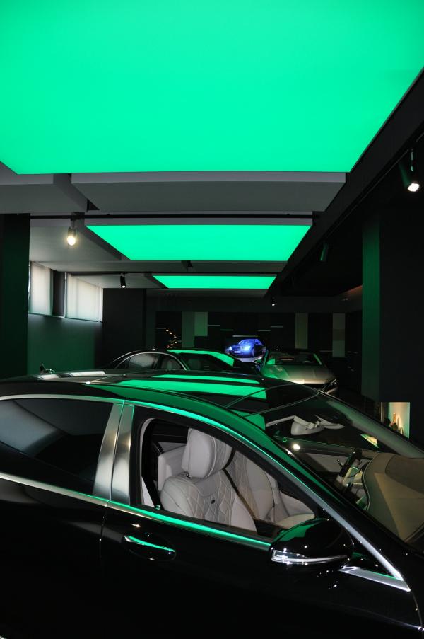 Использование цвета в демонстрационных залах Фотография предоставлена компанией Arlight