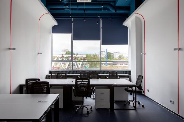 Офисный блок. Офисы класса А с сервисом коворкинга MANUFAQTURY Фотография © Борис Бочкарев
