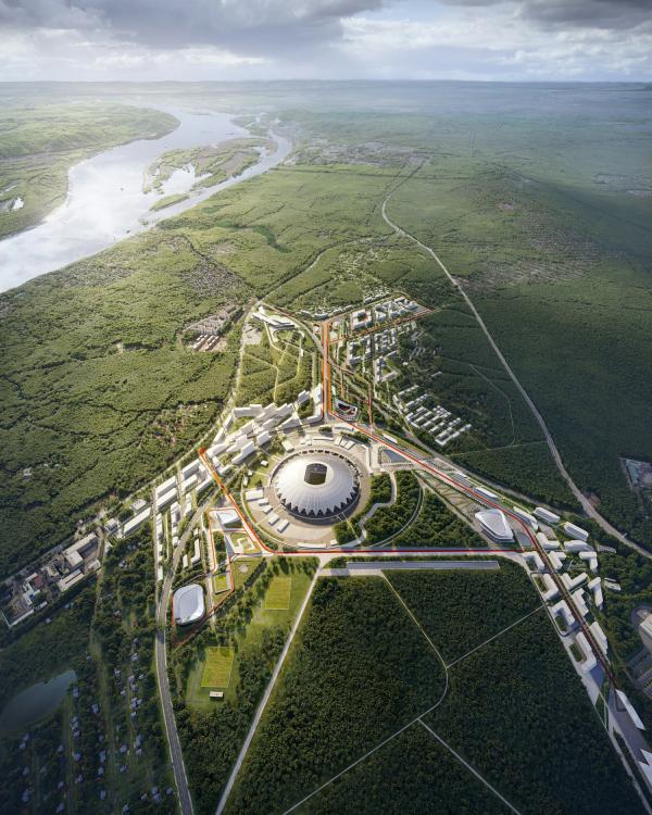 Конкурсный проект развития территории, прилегающей  к стадиону «Самара Арена» IND architects, UNStudio, АБ «Дом», Knight Frank, Спектрум-Холдинг, НИИТДХ