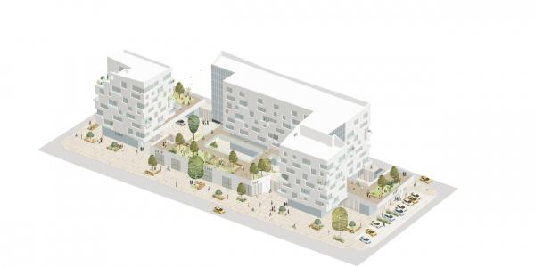 Жилой квартал в центре города © Архитектурное Бюро ОСА