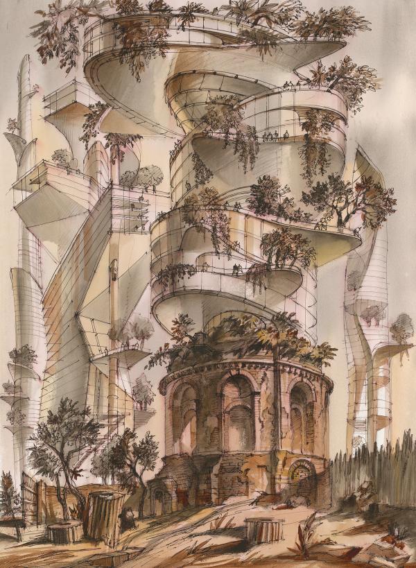 Оттиск будущего. Архитектурная фантазия на тему офорта Пиранези