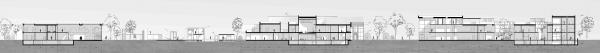 Комплекс Научно-исследовательского института археологии в городе Инкерман. Разрез 1-1 © Евгения Чумаченко