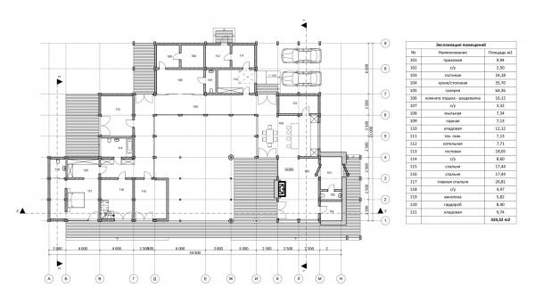 The floor plan. Manor house in Antonovka Copyright: © Studio of Roman Leonidov
