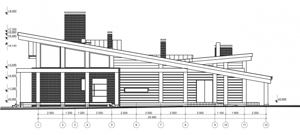 Facade1-12. Manor house in Antonovka Copyright: © Studio of Roman Leonidov