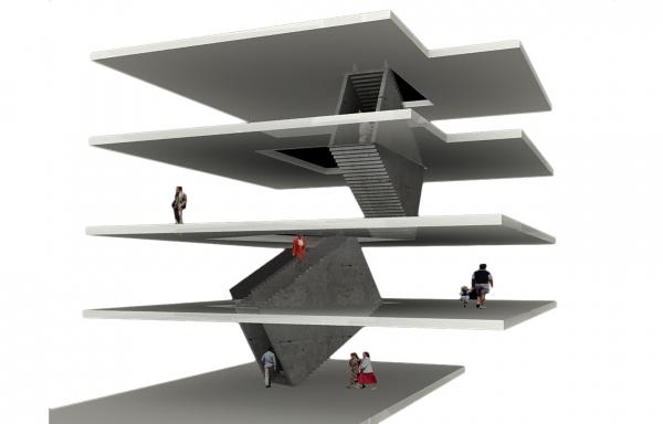 Галерея RuArts. Схема построения внутреннего пространства © ATRIUM