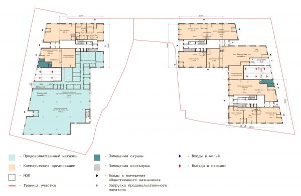 План 1 этажа. ЖК «В самом сердце Пушкино» © Крупный план