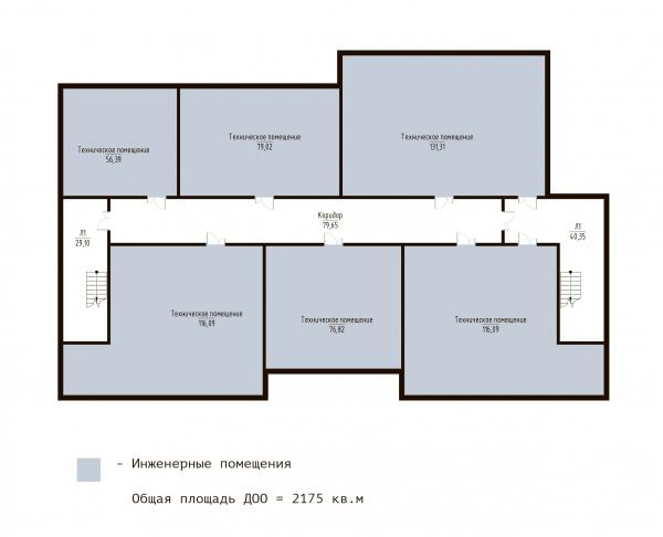 План ДОО -1 этаж. ЖК «В самом сердце Пушкино» © Крупный план