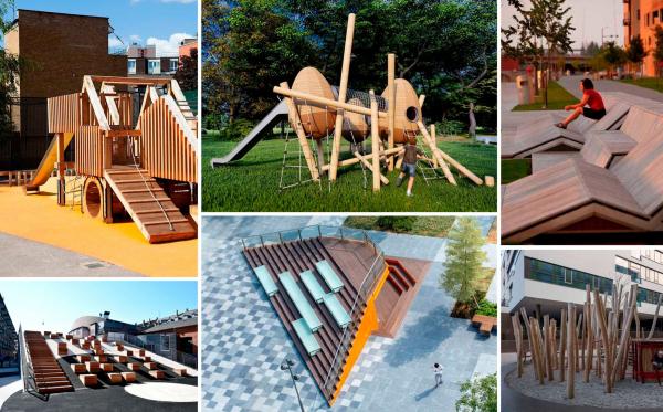 Примеры малых архитектурных форм. ЖК «В самом сердце Пушкино» © Крупный план