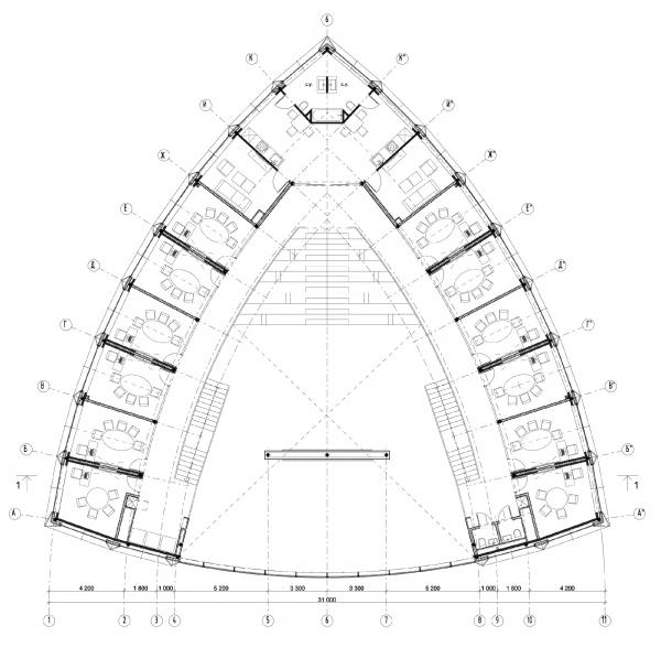 План 2-го этажа. Офис продаж ЖК «Переделкино ближнее» © Studio-TA