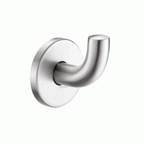 Крючок матовая нержавеющая сталь, короткая модель. Арт. 4043S Delabie