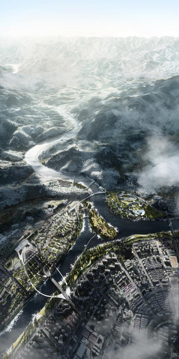 Мастер-план Лишуй, конкурсный проект © IND architects + DA! architects