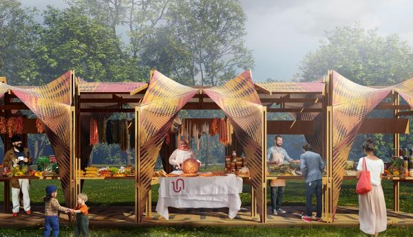 Павильоны вернисажа для парка Дружбы в Гюмри IND architects