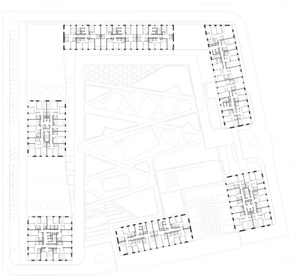 ЖК «Life-Кутузовский». План на уровне 15 этажа © ADM