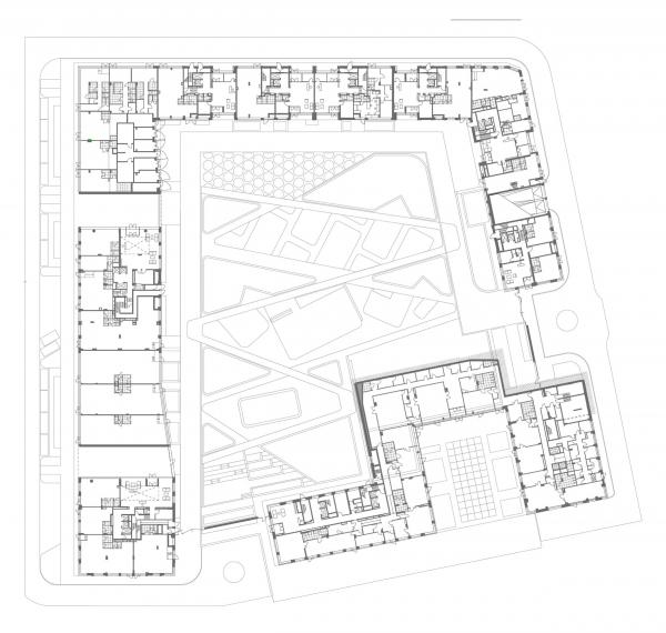 ЖК «Life-Кутузовский». План на уровне 1 этажа © ADM