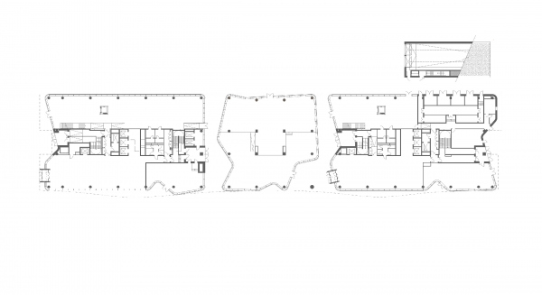 Plan of the 1st floor. Alcon II business center on leningrad Avenue Copyright: © ADM
