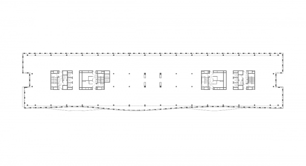 Plan of the 5th floor. Alcon II business center on leningrad Avenue Copyright: © ADM