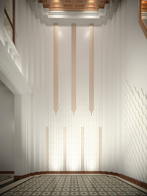 The hallway interior. Variant, view 2. ID Moskovskiy Copyright: © Liphart Architects