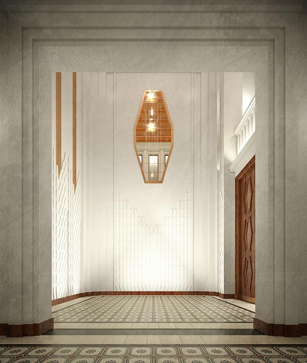The hallway interior. Variant, view 3. ID Moskovskiy Copyright: © Liphart Architects