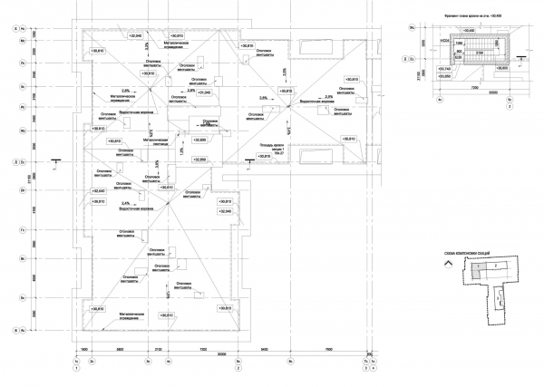 Section 1, plan of the roof. ID Moskovskiy Copyright: © Liphart Architects