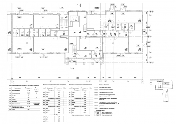 Section 2, plan of the 1st floor. ID Moskovskiy Copyright: © Liphart Architects